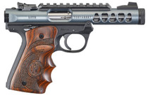 "Ruger Mark IV Lite, 22/45 22LR, 4.4"" Barrel, Polymer Frame, Diamond Gray Finish, Wood Laminate Grips, 10Rd Mag"