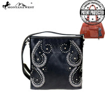 Montana West Cut-Out Collection Concealed Carry Crossbody Bag - Black