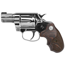 "Colt Bright Cobra 38 Special +P, 2"" Barrel, Stainless Steel, Walnut Medallion Grips, Right Hand, Brass Bead Front Sight, 6rd"