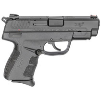 "Springfield XDE Compact, 9MM, 3.8"" Barrel Black, 2 Mags, 1-8Rd, 1-9Rd, Ambi Safety Combat Rear Sight"