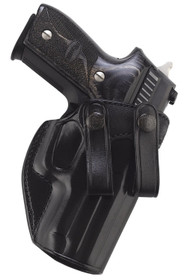 Galco Summer Comfort Inside Waistband Holster, Fits Sig P250 Compact 9/40, P320C 9/40, Right Hand, Black Leather