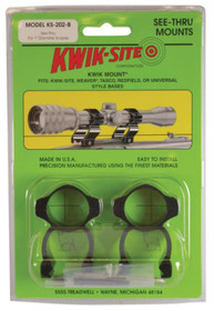 Kwik Site See-Thru For Weaver Bases 1 Inch Matte Black