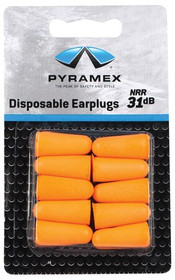 Pyramex Safety DP1000 Uncorded Taper Fit Disposable Ear Plugs 5 Pair