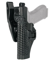Blackhawk Level 3 SERPA Auto Lock Duty Basket Weave Black LH For Glock 17/19/22/23/31/32