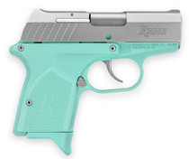"Remington RM380 Micro 380 ACP 2.9"" Barrel, Light Blue Polymer Grip, Aluminum Frame, SS Slide 6rd Mag"