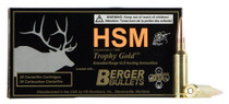 HSM 6.5 Creedmoor 130gr, VLD Gold, 20rd Box