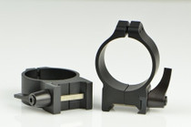 Warne 34mm, QD, Medium Matte Rings, Steel, Fixed for Maxima/Weaver Style or Picatinny Bases