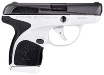 "Taurus Spectrum, .380 ACP, 2.8"" Barrel, 7rd, White Frame, Black Grip"