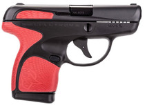 "Taurus Spectrum .380 ACP, 2.8"" Barrel, 6rd, Black Frame, Red Grips and Black Slide"