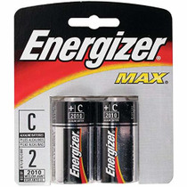 Energizer Max Batteries C, 2 Pack