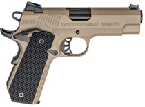 "Springfield 1911-A1 EMP Champ Lightweight Carry 9mm, 4"" Barrel, Flat Dark Earth, 3x9rd Mags"