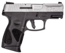 """Taurus G2c, 9mm, 3.25"""" Barrel, 10rd, Black Frame, Stainless Steel Slide"""