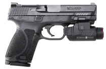 "Smith & Wesson M&P M2.0 Compact, 9mm, 4"", 15rd, Crimson Trace Rail Master, Manual Safety, Black"