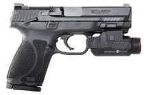"Smith & Wesson M&P M2.0 Compact, 9mm, 4"", 15rd, Crimson Trace Rail Master, Black"