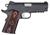 "Springfield 1911 Champion Operator Lightweight 45 ACP, 4"", Cocobolo Grip, Black Hardcoat Frame, Black Carbon Steel Slide, 7rd"