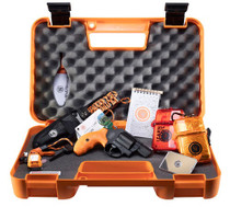 "Smith & Wesson 360 Survival Kit, .357 Mag/38 Spl, 1.875"" Barrel, 5rd, Safety Orange Grips, Black Frame/Cylinder, Survival Supplies"