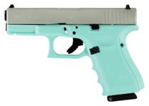 "Glock G19 Gen 4, 9mm, 4.01"" Barrel, 15rd, Robin Egg Blue"