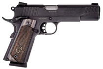 "Taurus 1911, 45 ACP, 5"" Barrel, 8rd, Novak Sights, Walnut Grips, Black"