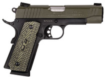 "Taurus 1911 Commander 45 ACP, 4.2"" Barrel, Adjustable Sights Black Frame, Green Slide, 8rd"