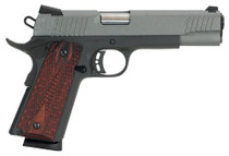 "Citadel 1911 A1 Madagascar, 45 ACP, 5"" Barrel, 8rd, Redwood Grips, Laser Etched Gray Slide, Black Flame"