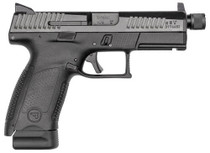 "CZ P-10 C, 9mm, 4.61"" Barrel, 10rd, Suppressor Ready, Night Sights, Black"