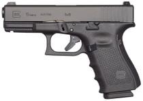 """Glock 19 GEN4 Compact 9mm, 4.02"""", Polymer, Matte, Fixed Sights, 10rd"""