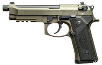 "Beretta M9A3, 9mm, 5.1"" Barrel, 10rd, Night Sights, Green Steel"