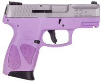 "Taurus G2c, 9mm, 3.25"" Barrel, 12rd, Light Purple/Stainless Steel"