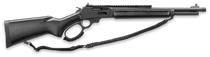 "Marlin 1895 Dark Series 45-70 Govt 16"" Threaded Barrel, Black Matte Finish, Black Webbed Stock, XS Rail"