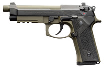 "Beretta M9A3 9mm, 5.2"" Barrel, Night Sights, Decocker, OD Green/Black, 17rd"