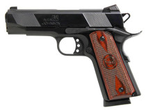 "Iver Johnson 1911 Hawk, 45 ACP, 4.25"", 8rd, Rosewood Grips, Black"