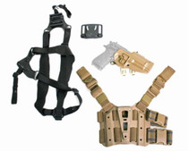 Blackhawk S.T.R.I.K.E. Serpa Combo Kit For Beretta Only Includes Serpa, Belt, Shoulder and Thigh Mounts Size Medium to Large Torso Right Hand Coyote Tan