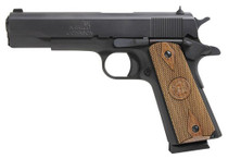 "Iver Johnson 1911 A1, 45 ACP, 5"", 8rd, Walnut Grips, Black"