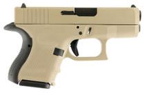 """Glock G26 Gen4, 9mm, 3.42"""", 10rd, Desert Tan"""