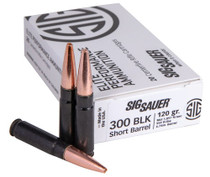 Sig Ammo Elite 300 Blackout 120gr, SBR Solid Copper, Black Case, 20rd Box