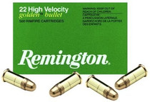 Remington Golden 22LR High Velocity 40gr, Plated Lead Round Nose, 50rd/Box