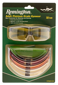 Remington Wiley X RE 105 Shooting/Sporting Glasses Kit, Black Frame
