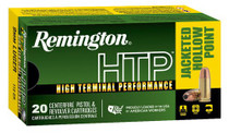 Remington Ammo HTP 9mm 115gr, Jacketed Hollow Point 20rd/Box