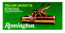 Remington Ammo Yellow Jacket 22LR 33gr, Truncated Cone Hollow Point, 100rd/Box