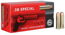 GECO Geco Handgun Ammunition 38 Special 158gr, Jacketed Hollow Point, 50rd/Box