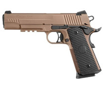"Sig Emperor Scorpion 1911, 10mm, 5"", Flat Dark Earth, Siglite Night Sights, Black G10 Grips"