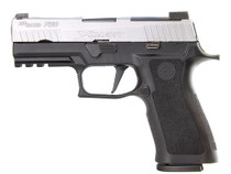 "SIG P320 X-Series, 9mm, 3.9"" Barrel X-Ray3 Night Sights, Stainless/Black, Enhanced Serrations, 17rd Mag"