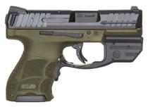 """HK VP9 SK LE Crimson Trace Red Laser 9mm 3.39"""" Barrel OD Grip OD Green Polymer Frame 10rd Mag"""