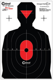 "Battenfeld Technologies Caldwell Flake-Off Targets Dual Zone Silhouette 12x18"" 25 Per Package"