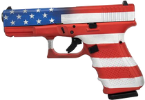 "Glock G19 American Flag 9mm 4.4"" Barrel 3 15rd mags"