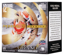 "Federal Premium Gold Medal Grand Plastic 12 Ga, 2.75"", 1oz, 9 Shot, 25rd/Box"