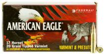 Federal American Eagle 17 Hornet 20gr, Varmint, 50rd/Box