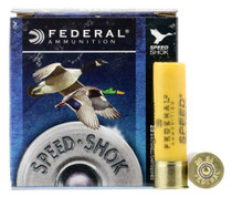 "Federal Speed-Shok 20 Ga, 3"", 7/8oz, Steel, 1500 FPS, 4 Shot, 25rd/Box"