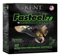 "Kent Fasteel Waterfowl 12 Ga, 3"", 1-1/4oz, 2 Shot, 25rd/Box"