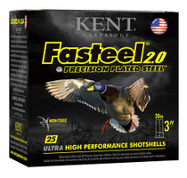 "Kent Fasteel Waterfowl 20 Ga, 3"", 7/8oz, 4 Shot, 25rd/Box"